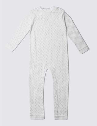 Marks and Spencer Unisex Pure Cotton Sleepsuit (3-8 Years)