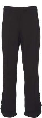 Prada Draped Crepe Straight-Leg Pants