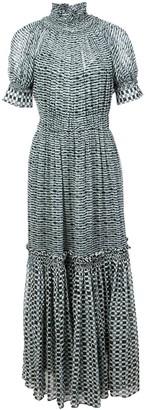 Proenza Schouler Crepe Chiffon Tiered Dress