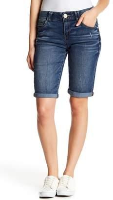 Democracy Cuffed Denim Bermuda Shorts (Petite)