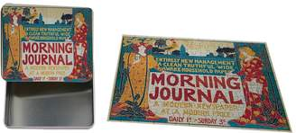 "Style in Print Morning Journal Vingate Poster Metal Tin Trinket Box (4""x6"") & Jigsaw Puzzle Set"