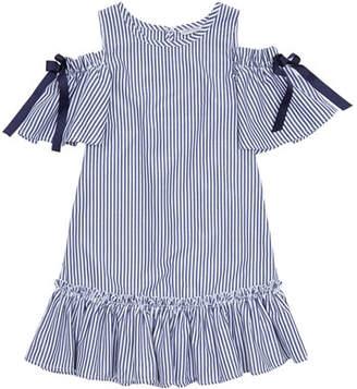 Habitual Nancy Striped Cold-Shoulder Dress, Size 7-14