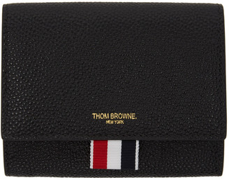 Thom Browne Black Short Clasp Wallet $595 thestylecure.com