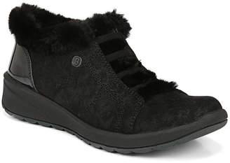 Bzees Golden Fur Trim Slip On Sneakers Women Shoes