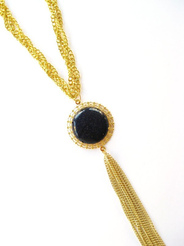 K. Amato Chain and Cable Tassel Necklace