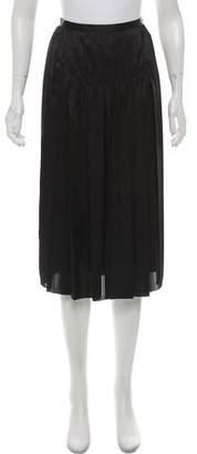 Issey Miyake Pleated Satin Skirt
