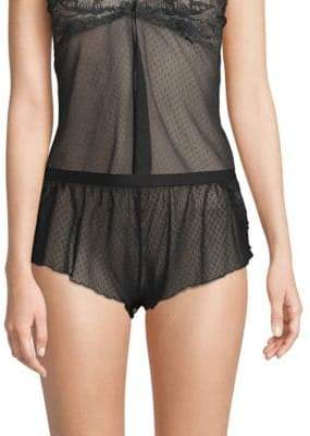 Bisou Mesh Tap Shorts