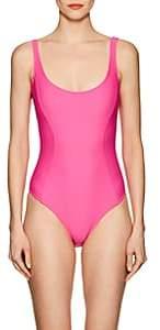 Fleur Du Mal Women's Scoopneck One-Piece Swimsuit - Fun Pink