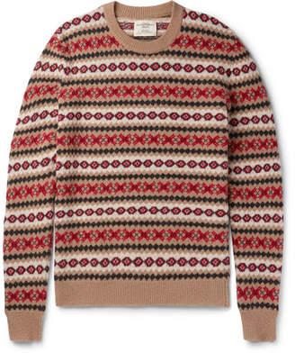 Kent & Curwen Slim-Fit Fair Isle Shetland Wool Sweater