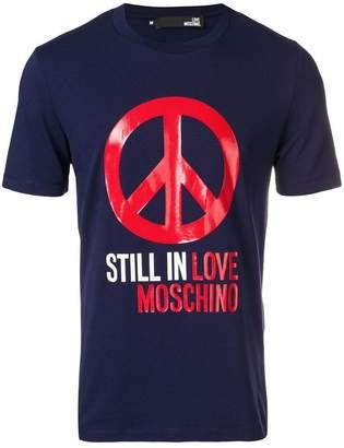Love Moschino Peace motif T-shirt