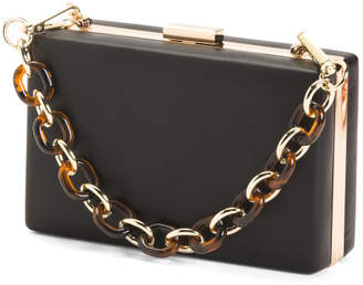 Lucite Handle Clutch
