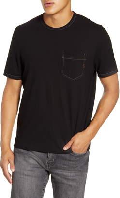 Billy Reid Contrast Stitch Pocket T-Shirt