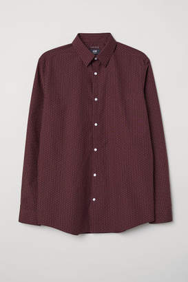 H&M Easy-iron Shirt Slim fit - Red