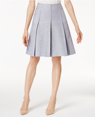 Tommy Hilfiger Pleated A-Line Skirt $89 thestylecure.com