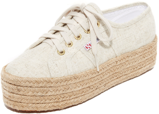 Superga 2790 Linen Platform Espadrille Sneakers $109 thestylecure.com
