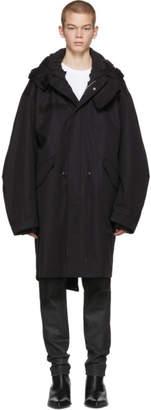 Helmut Lang Black Re-Edition Hooded Parka