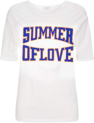 Sandro Slogan Cut-Out T-Shirt