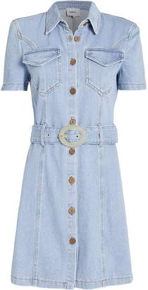 Nanushka Mora Belted Denim Shirt Dress