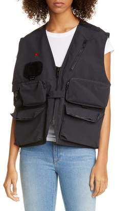 Undercover Bleeding Rose Nylon Utility Vest