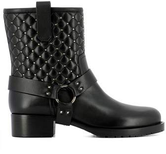 Valentino Women's Black Leather Ankle Boots.