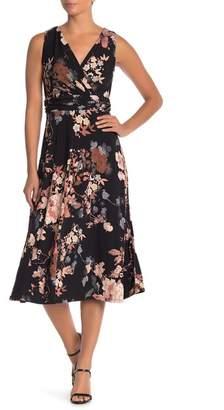 Chetta B Sleeveless Floral Print Dress