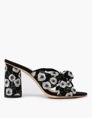 Loeffler Randall Coco High Heel Knot Slide in Black/Anemone