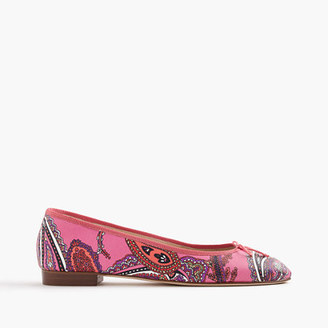 Kiki leather ballet flats in paisley $178 thestylecure.com