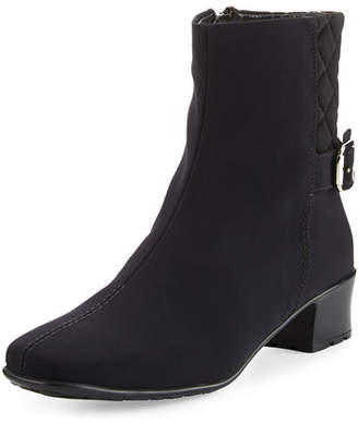 Sesto Meucci Yannik Weatherproof Quilted Ankle Boot, Black $360 thestylecure.com