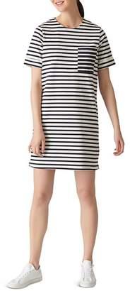 Whistles Amaka Striped Jersey Dress