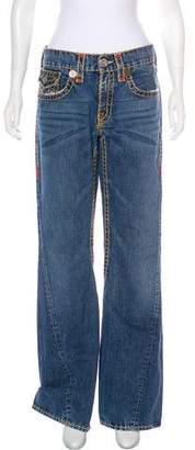 True Religion Mid-Rise Flared Jeans