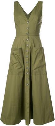 Saloni patch pocket back cutout dress