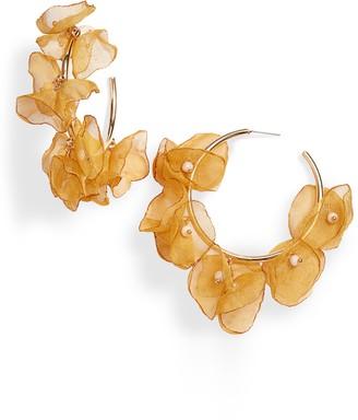 Stella + Ruby Chiffon Petal Hoop Earrings