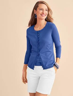 Talbots Charming Cardigan - Scalloped Edge