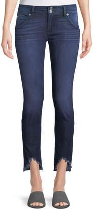 Hudson Collin Skinny Frayed-Hem Ankle Jeans