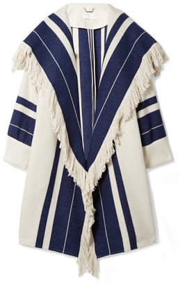 Chloé Fringed Cotton-blend Coat - Cream