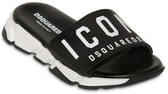 DSQUARED2 Icon Print Slide Sandals