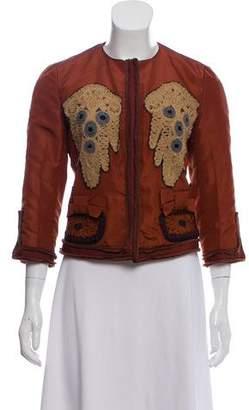 Prada Embroidered Silk-Blend Jacket