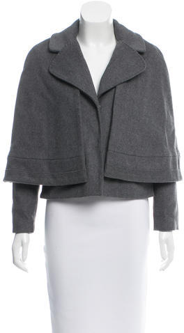 Tory Burch Tory Burch Wool Cape-Accented Jacket