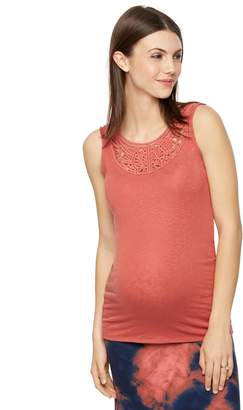 A Pea in the Pod Crochet Detail Maternity Tank Top