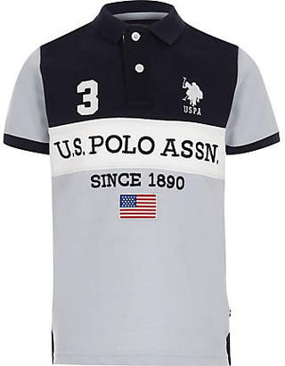 River Island Boys Navy U.S. Polo Assn. polo shirt