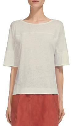 Whistles Fluted-Cuff Linen Tee