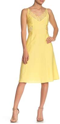 Line & Dot Elly Lace Panel Woven Dress