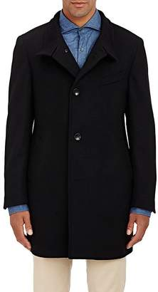 Piattelli Men's Stand-Collar Melton Coat