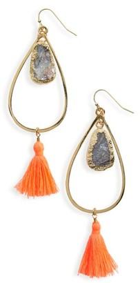 Women's Panacea Teardrop Tassel Earrings $32 thestylecure.com