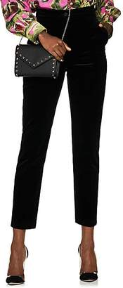 Dolce & Gabbana Women's Cotton Velvet Slim Trousers - Black