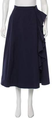 Tome Ruffled Midi Skirt