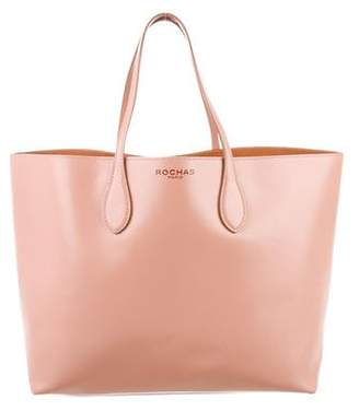 Rochas Leather Shopping Tote