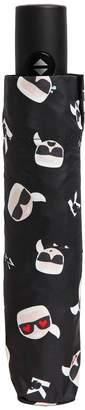 Karl Lagerfeld K/ Ikonik Printed Mini Umbrella