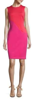 Calvin Klein New Wave Colorblocked Scuba Dress