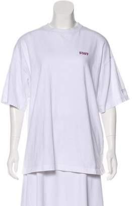 Vetements Oversize Short Sleeve Top